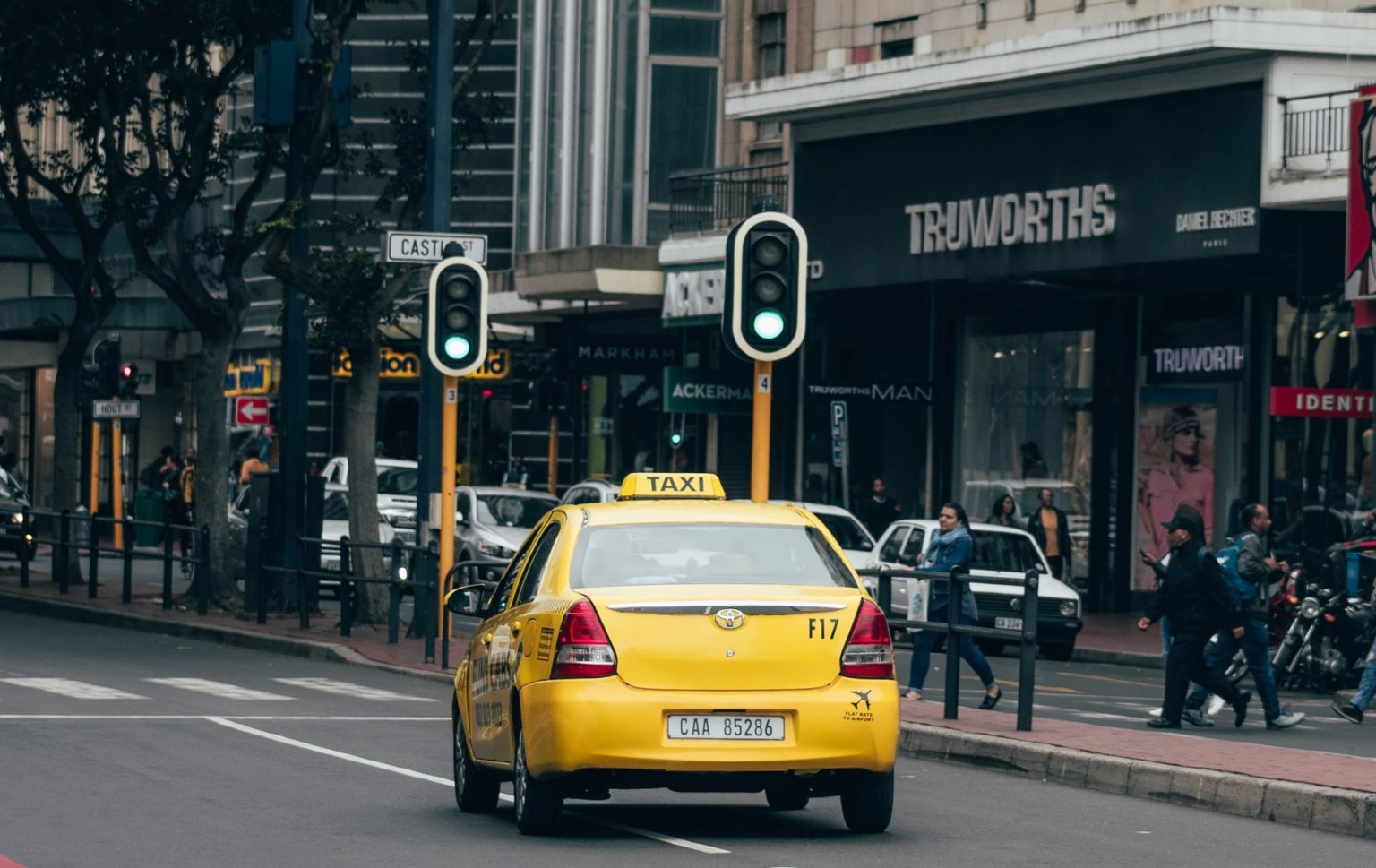 Metered taxi in Cape Town